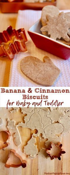 These Banana & Cinnamon Biscuits are great for teething or just a sweet treat for baby! Baby Tips, Pregnant Mom, Dairy, Cereal, Cheese, Breakfast, Food, Eten, Hoods