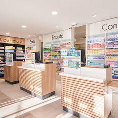 Des exemple d'agencements de pharmacie par JBCC