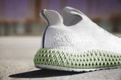 The Adidas AlphaEdge 'Footwear White' is the Garman sportswear brand's basic introduction to the sneaker technology that powers its midsole. Impression 3d, Comfort Design, Adidas Logo, Adidas New, Athletic Gear, Latest Sneakers, White Shoes, Sportswear Brand, Adidas Originals