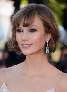 New Pics! The Most Glamorous Hair and Makeup on the Cannes Red Carpet: Also at the Immigrant premiere, Karlie Kloss rocked her signature crop and black, smudgy eyeliner.