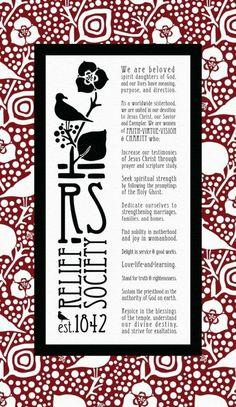 Beautiful way to print the Relief Society theme stephaniehatch