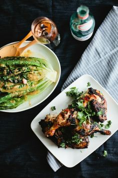 Grilled Greens Salad with Anchovy Vinaigrette | Not Without Salt