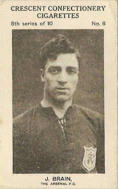 Jimmy Brain of Arsenal in 1925.