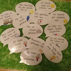 Impulse cards for reflection - Deutschunterricht Classroom Organisation, Classroom Management, Kindergarten Portfolio, German Language Learning, Learn German, Change Management, Group Work, School Classroom, Teaching Tips