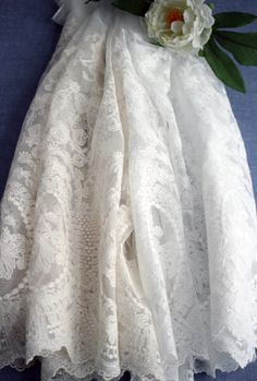 2Colors White Ivory and Beige Net Lace C55612 by KoreanFabric