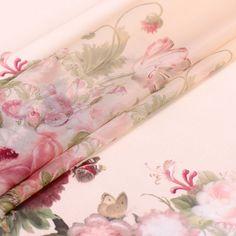 2017 Spring/Summer Organza Satin silk Fabric  soft beige