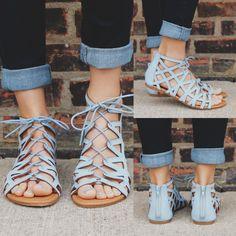 Femme Fatale Sandal - Baby Blue