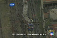 Trem sai dos trilhos e prejudica circulação da CPTM - Notícias - R7 São Paulo