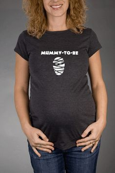 MUMMY To Be  Short Sleeve Charcoal Grey by JellybeanApparel, $23.00