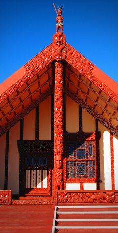 Maori House, Rotorua, Bay of Plenty, North Island, New Zealand The Beautiful Country, Beautiful Homes, Beautiful Places, North Island New Zealand, South Island, Travel Sights, Places To Travel, Maori Designs, Visit New Zealand