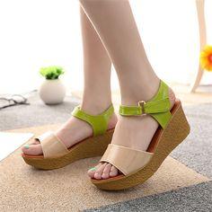 Cuñas de verano sandalias zapatos mujer 2015 nuevo diseño barato ...
