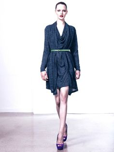 Melange jersey dress by Pol.