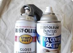 Get the lowdown on spray paint. Excellent post that answers almost all of your questions about spray paint. Great info!