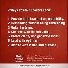 7 Ways Positive Leaders Lead.