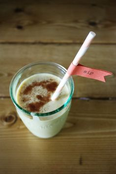 pumpkin smoothie from @Lesley Graham, queen of clean eating, motherhood, handmade, and rockin' red hair