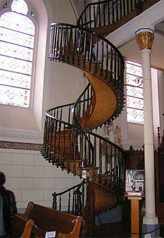 Worth seeing! Santa Fe, NM staircase built by an angel?
