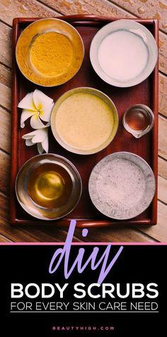 DIY body scrub recipes for EVERY skin care need