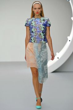 Michael vander Ham s/s 2013    Almost tacky . . . but I give it a thumbs up.