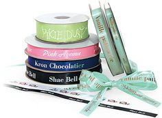 Add your logo to your Printed Ribbon with Nashville Wraps! Your source for Wholesale Personalized Ribbon, Gift Bags, Tissue Paper, Gift Boxes & Custom! Personalized Ribbon, Personalized Wedding, Decorative Tape, Custom Ribbon, Printed Ribbon, Isagenix, Homemade Baby, Custom Boxes, Tissue Paper