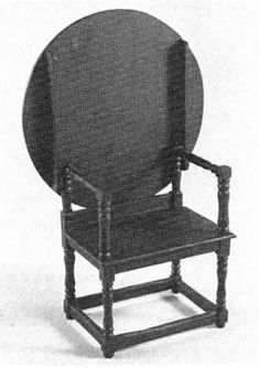 """Helen Dorsett. (1985). Building Furniture with Commercial Turnings: Jacobean Hutch Table. Complete 1"""":1' plans, patterns, and instructions. In the Scale Cabinetmaker, Volume 8:1. Issue available as digital download from dpllconline.com. Issue price: $6."""