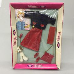 1960's Ideal Tammy Doll Clothes Walking Her Pet Dog 9114-0 NOS Unopened Box