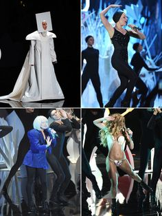 Lady Gaga's VMAs Performance Costumes: See All Her Wacky Outfits Lady Gaga Outfits, Hollywood Life, Through The Looking Glass, Alice, University, Costumes, Tops, Dress Up Outfits, Shell Tops