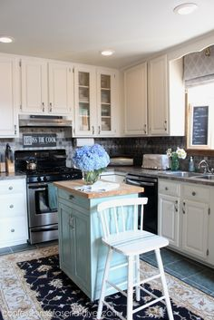 Amazing White Kitchen Makeover on a Budget