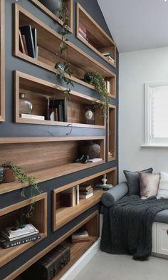 Home Office Design Built Ins Paint Colors 30 Ideas Etagere Design, Built Ins, Home Interior Design, Interior Office, Interior Doors, Interior Ideas, Design Case, Home Projects, Furniture Design