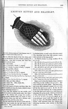1850's fingerless glove pattern:  must try