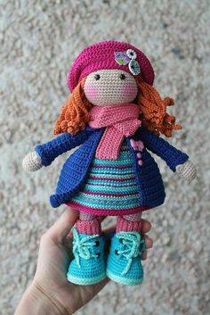 """If you have spent any time in the world of crochet then there's a good chance that you have heard the term """"amigurumi"""". Browsing through amigurumi crochet patterns, you might get a sense of what this niche of the craft is, but you may not know for su Crochet Dolls Free Patterns, Crochet Doll Pattern, Amigurumi Patterns, Doll Patterns, Pattern Ideas, Amigurumi Tutorial, Crochet Designs, Crochet Teddy, Crochet Toys"""