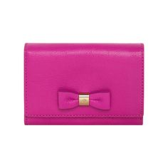 Mulberry - Bow French Purse in Mulberry Pink Glossy Goat
