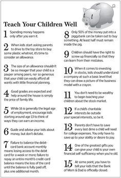 Financial advice for your kids ... teach 'em young!