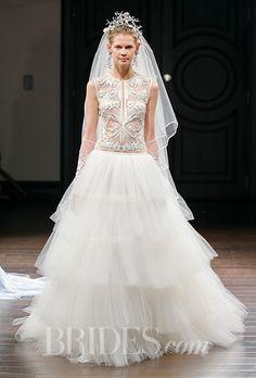 Brides: Naeem Khan Wedding Dresses   Spring 2016   Bridal Runway Shows   Brides.com | Wedding Dresses Style