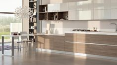 Can totally mimic this with Ikea Sofielund European Kitchen Cabinets, Contemporary Kitchen Cabinets, Contemporary Kitchen Design, Kitchen Ikea, Kitchen And Bath, Kitchen Living, Family Kitchen, Island Kitchen, Design Your Kitchen