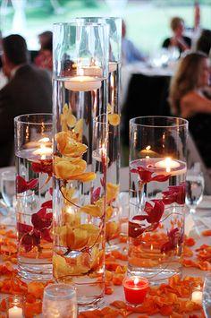Orange Wedding, Fall Wedding Colors, Autumn Wedding, Rustic Wedding, Our Wedding, Dream Wedding, Wedding Ideas, Fall Wedding Centerpieces, Outdoor Wedding Decorations