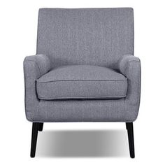 Galo Linen Like Fabric Accent Chair