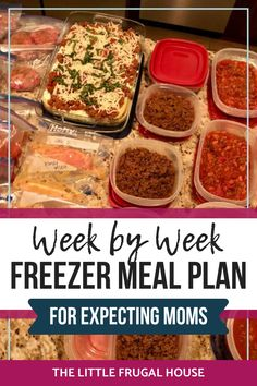 This weekly freezer cooking plan is perfect for expecting moms to stock their freeze with easy meals to enjoy when baby arrives. Beef Freezer Meals, Freezer Cooking, Cooking Recipes, Freezer Recipes, Dinner Recipes Easy Quick, Quick Meals, Delicious Recipes, Make Ahead Meals, Rage