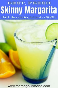 Learn how to make the best Skinny Margarita recipe that is low in carbs and calories, sweetened with agave and a fresh, refreshing margarita. Pitcher Margarita Recipe, Easy Margarita Recipe, Skinny Margarita Recipe Agave, Drinks Alcohol Recipes, Cocktail Recipes, Drink Recipes, Cocktail Drinks, Whisky, Strawberry Banana Milkshake