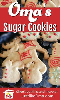 ❤️ Easy Sugar Cookie Recipe made Just like Oma German Sugar Cookies Recipe, German Cookies, Sugar Cookie Recipe Easy, Easy Sugar Cookies, Baking Recipes, Cookie Recipes, Strawberry Jam Recipe, Sunday Recipes, Food Stamps