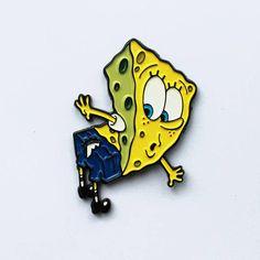 Ripped Pants Spongebob Pin Soft Enamel Pin