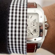 Fancy - Cartier Santos 100 XL Steel Chronograph