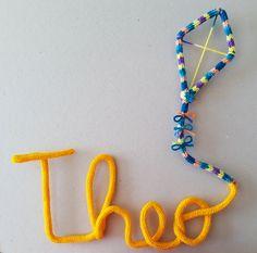 Nome em Tricô - Theo + desenho