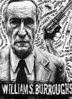 William S. Burroughs by magnetic-eye.deviantart.com on @deviantART