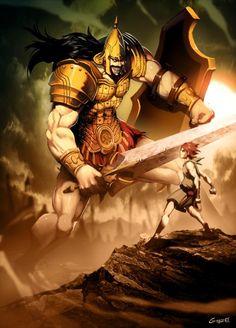 David y Goliat by Genzoman.