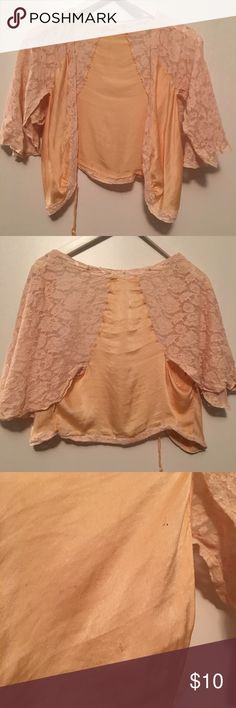 Vintage 40s Lace & Silk Bedjacket Size S/M Vintage condition, some stains and fabric wear. Missing one tie at front. Gorgeous Slv and color! Vintage Intimates & Sleepwear Pajamas