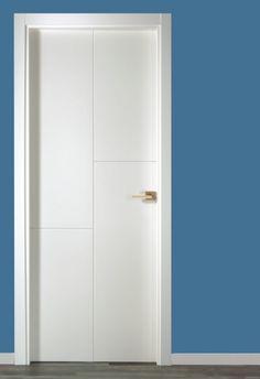Puerta de interior semi maciza vinilo blanca puertas for Puertas interior valencia