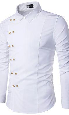 Gents Kurta Design, Boys Kurta Design, Cheap Mens Shirts, Mens Shirts Online, White Shirt Men, Black And White Shirt, Slim Fit Casual Shirts, Casual Tops, Kurta Designs