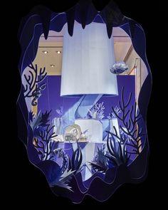 Hermes Atlantis Paper Craft Purple Window Display