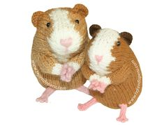 How to knit a cuy or guinea pig on two needles or sticks