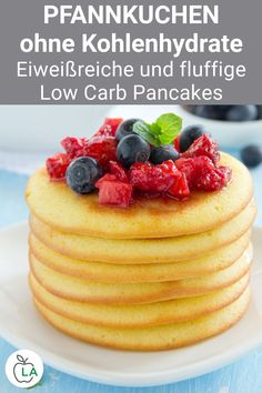 No Carb Recipes, Healthy Low Carb Recipes, Low Carb Dinner Recipes, Low Carb Drinks, Low Carb Desserts, Dessert Recipes, Low Calorie Pancakes, Pancakes Easy, Low Carb Shakes
